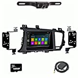 Otto Navi DVD GPS Navigation Multimedia Radio and Dash Kit for Kia Optima 2011-2016 with Back up camera and extra