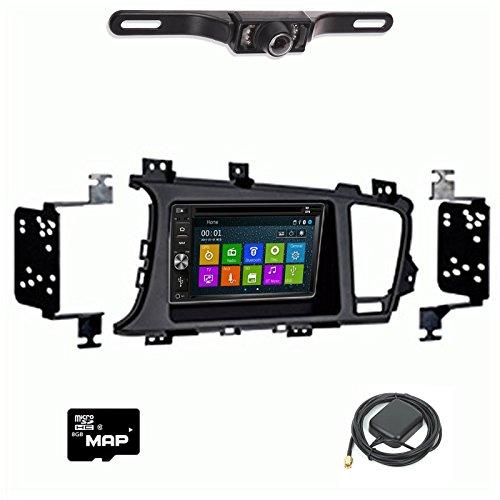(DVD GPS Navigation Bluetooth Radio and Dash Kit for Kia Optima 2011-2016 with Back Up Camera)