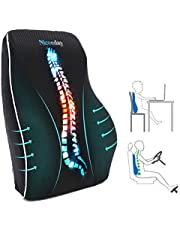 Lumbar Support Pillow for Office Chair Car Lumbar Pillow Lower Back Pain Relief Memory Foam Back Cushion with 3D Mesh Cover Gaming Chair Back Pillow Ergonomic Orthopedic Back Rest for Wheelchair Desk,