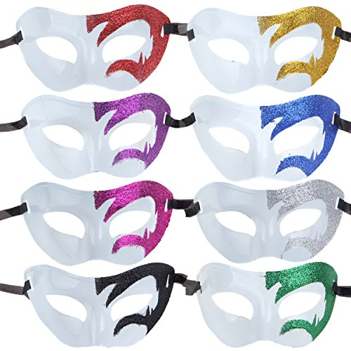 12pcs Set Evening Prom Venetian Masquerade Masks Costumes Party (Murder Mystery Costumes Fancy Dress)