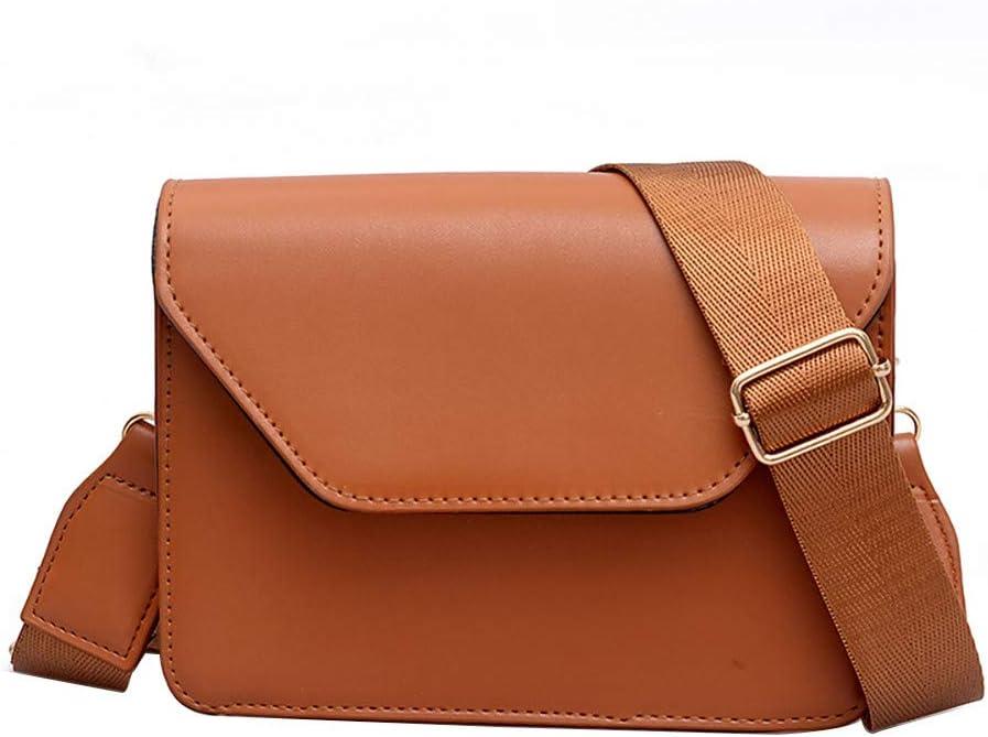 Women Bag JJLIKER Simple Solid Color Versatile Wide Shoulder Bag Clearance !