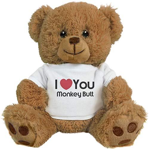 Love Mine Monkey (FUNNYSHIRTS.ORG I Heart You Monkey Butt Love: 8 Inch Teddy Bear Stuffed Animal)