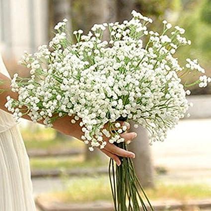 Kangrunmy 1pc Artificielle Gypsophile Fleur Fausse Soie Mariage