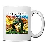 White Neil Young Sab04Fl Ceramic Coffee Mug 11oz Unisex Printed On Both Sides