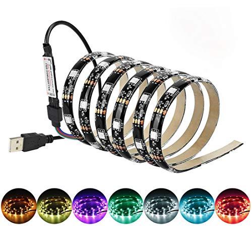 (Tv Led Strip Lights RGB USB HDTV Backlight Kit for 24 32 40 75 Inch TV Back Lights with RF Remote (13.1ft))