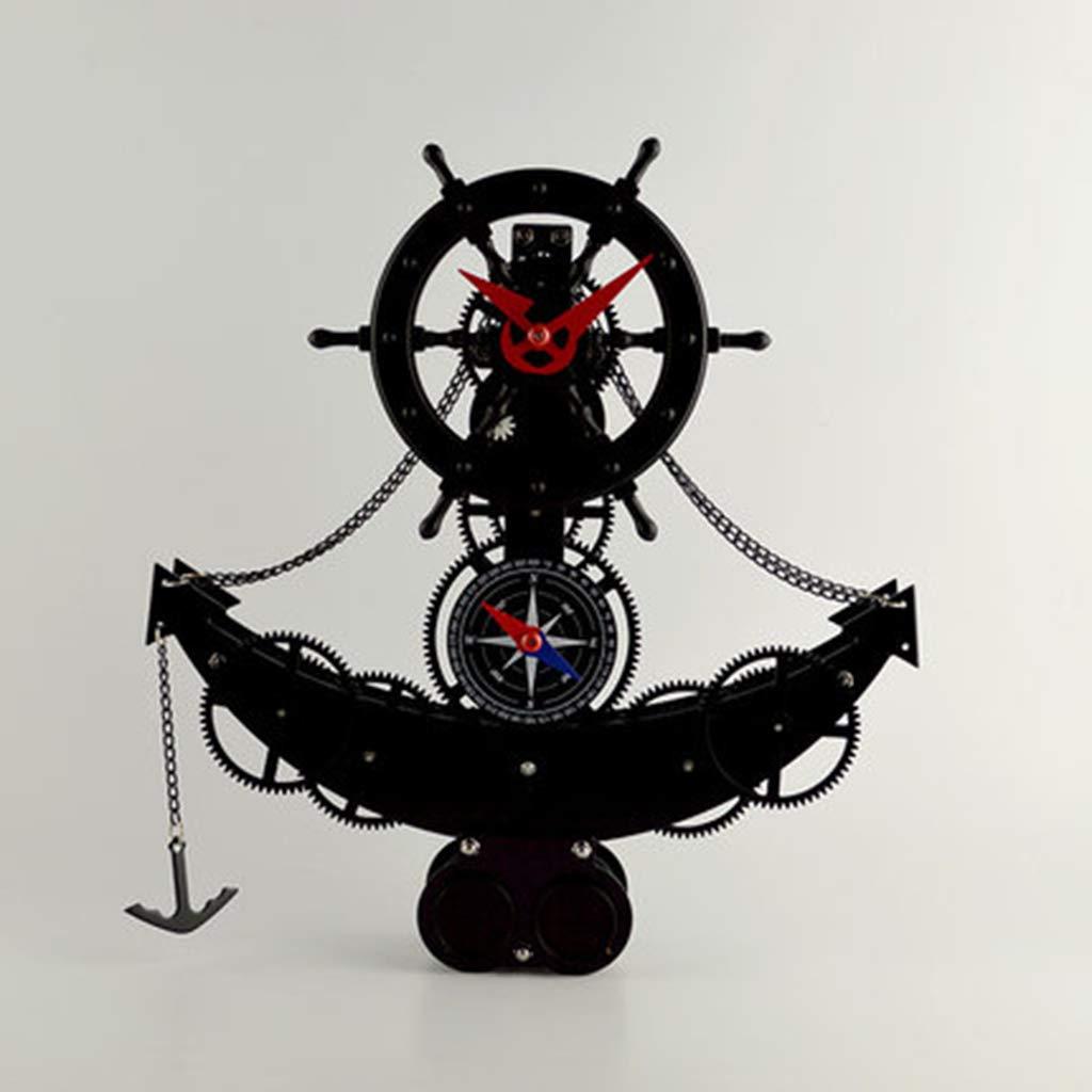 ZHPBHD Creativo Barco Pirata/Reloj De Engranajes del Proyector ...