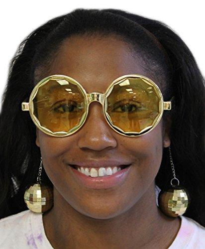 Costume Accessory- Disco Ball Sunglasses (One Size) ()