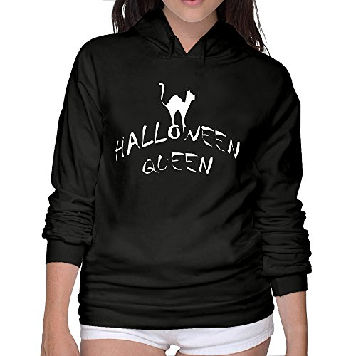 (Beautiful Women Halloween Queen Glitter Cool Hooded Sweatshirt 100%)