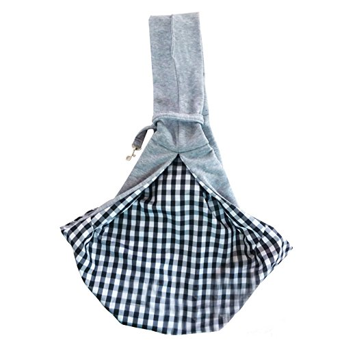 Pet Sling Bag, Dog Carrying Bag for Small Animals Cats Puppy up to 10 Lbs, Comfortable Small Dog Carrier Bag, Hands Free, Machine Washable (Grey)