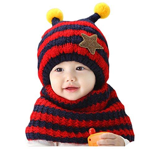 gemini-fairy-stylish-stripe-handmade-crochet-bee-style-baby-hat-and-scarf-set-red