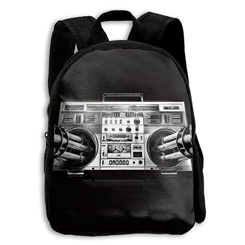 Hih Hop Old School Radio Music Kid Boys Girls Toddler Pre School Backpack Bags Lightweight