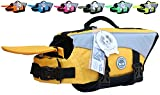 (US) Vivaglory Dog Life Jackets with Extra Padding for Dogs, Medium - Yellow