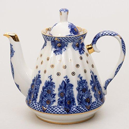Imperial Porcelain Teapot Delicate Basket Brewing Teapot