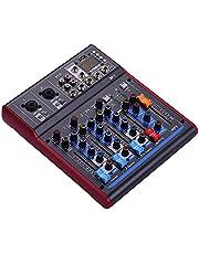 conpoir M-1 Professionele 4-kanaals digitale mixer Mixing Console Ingebouwde 48V fantoomvoeding met nagalmeffecten BT-functie voor studio-opname Uitzendingen DJ-netwerk Live