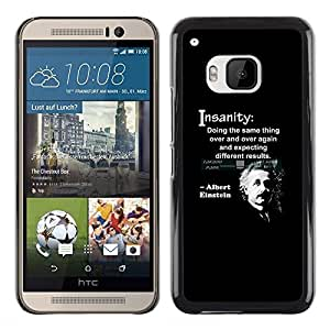 Planetar® ( Albert Einstein Quote Science Scientist ) HTC One M9 Fundas Cover Cubre Hard Case Cover