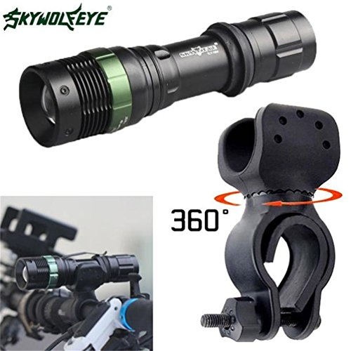 Willsa 5000LM Tactical LED Flashlight Zoomable Super Bright Military Lamp X800 G700 (Sytle 02)