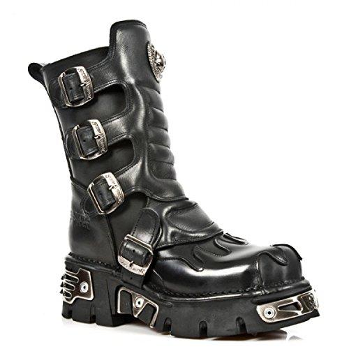 Nuovi Stivali Di Roccia M.1591-c10 Gotico Hardrock Punk Unisex Stiefel Schwarz