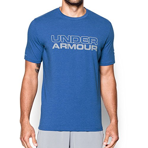 Under Armour Men's Wordmark T-Shirt, Royal/Steel, Large ()