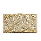 Minicastle Large Womens Noble Evening Clutch Bag Wedding Purse Bridal Prom Handbag Party Bag Gold