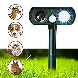 APlus+ Dog Repellent, Outdoor Solar Powered and Weatherproof Ultrasonic Dog/Cat/Mosquito Repeller