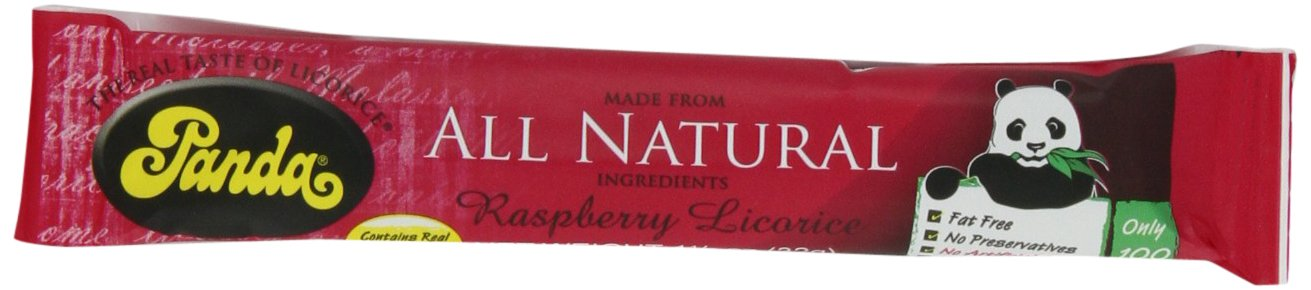 Panda All Natural Raspberry Licorice Bar, 1-1/8-Ounce Units (Pack of 36) by Panda