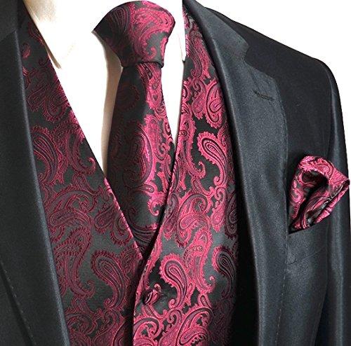 mens-3pc-paisley-design-dress-vest-tie-handkerchief-set-for-suit-or-tuxedo-l-chest-44-wine-red