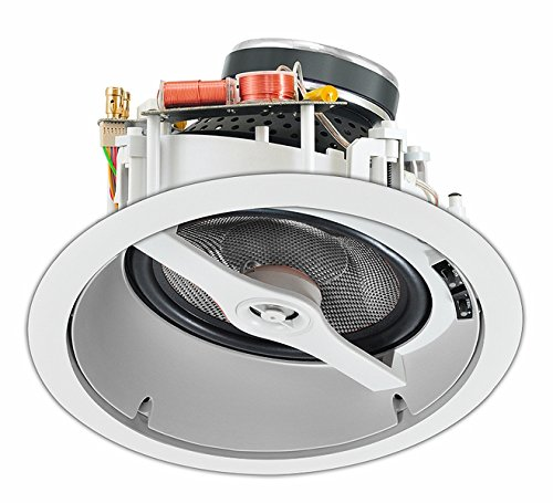 OSD MK870  8'' Angled LCR In-Ceiling Speaker 175W  w/Pivoting Aluminum Dome Tweeter (White, Single) by OSD Audio