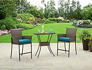 Better Homes And Gardens Patio Furniture Fairfield Bay 3 Piece Balcony  Outdoor Bistro Set