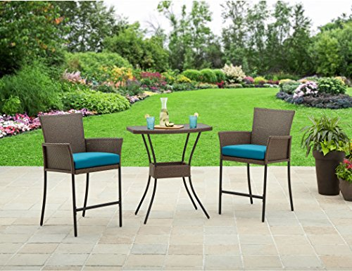 Better Homes and Gardens Patio Furniture Fairfield Bay 3-Piece Balcony Outdoor Bistro Set