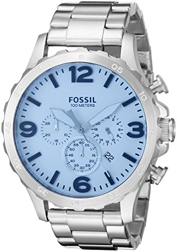 Fossil Men's JR1509 Nate Chronograph Crystal Blue Stainless Steel Watch
