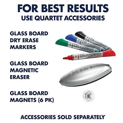 Quartet Glass Whiteboard, Magnetic Dry Erase White Board, 4' x 3',  Infinity, White Surface (G4836W)