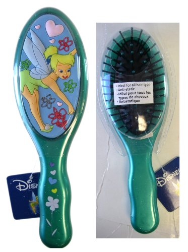 Disney Fairies 3D Green Tinkerbell Hair Brush - Tinkerbell (Fairy Hair Brush)