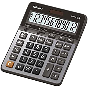 Casio GX-120B Electronic Desktop Calculator with 12-digit Extra Large Display