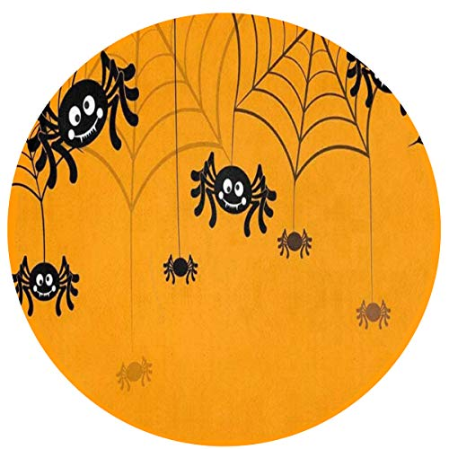 Zeajant Round Area Rug Non-Slip Halloween Seamless for sale  Delivered anywhere in USA