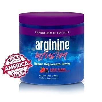 Arginine Infusion 3 Jars Natural Formula for Cardio Health 5,000mg L-arginine 1,000mg L-citrulline Per Serving Not Proargi 9 by Sante Global