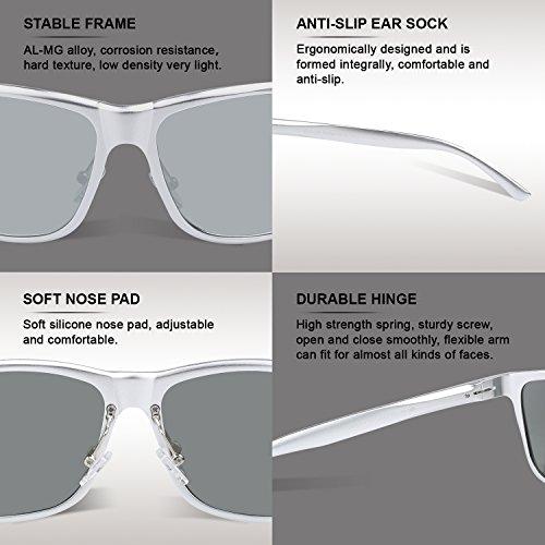 Miroir Duccom lunettes 8200 Duco pilote Argenté Lunettes polarisées de style sports 0Uxwvqax1