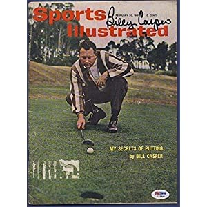Billy Casper Signed Sports Illustrated Magazine PSA/DNA