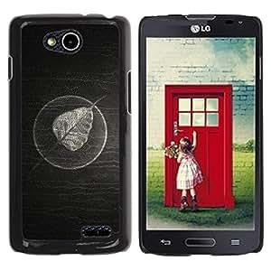Planetar® ( Minimalist Leaf On Wood ) LG OPTIMUS L90 / D415 Fundas Cover Cubre Hard Case Cover