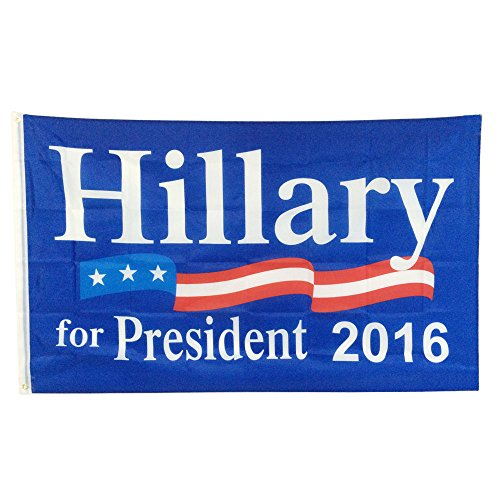 Hillary Clinton For President 2016 Flag 3'x5' ft with Brass Grommets