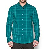Under Armour Men's Performance Woven Shirt, Turquoise Sky (158)/Turquoise Sky, Small