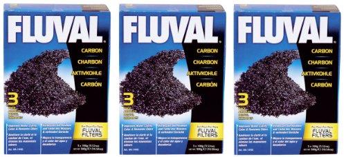 Fluval Carbon Nylon Bags for Aquarium, 100gm, 9-Pack - Nylon Aquarium Carbon