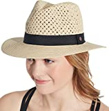 CALIA by Carrie Underwood Women's Wide Brim Fedora - Natural