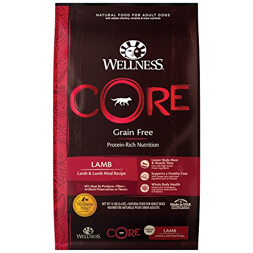 Wellness Core Natural Grain Free Dry Dog Food, Lamb, 12-Pound Bag