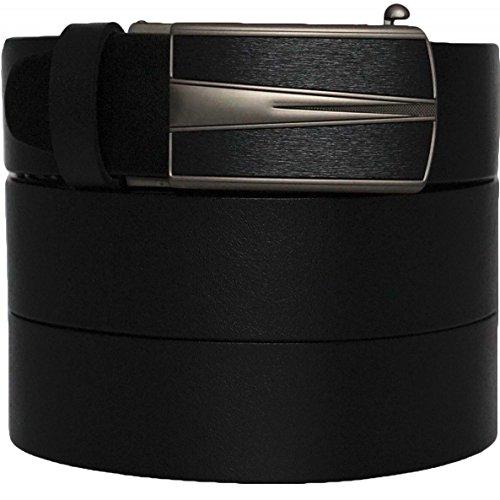 West Leathers Premium Formal Belt - Solid Top Grain Leather - Slide Ratchet Dress Belts -100 Year Warranty Size 38 Style 2