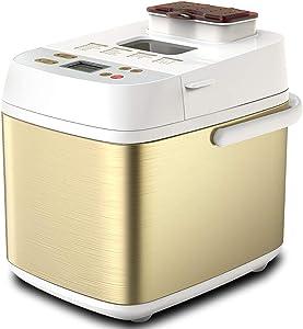 Bread Machine, Multifunctional Bread Machines Programmable Bread Maker with Fruit Nut Dispenser for Home Cake Bread Dough Breakfast Machine