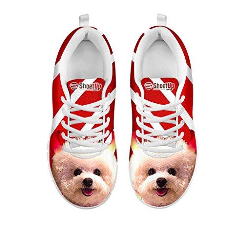 Running Shoes Women's Your Sneakers Women Shoetup for Halloween Pet Breed Choose Frise Bichon Dog Casual wYqdX4x