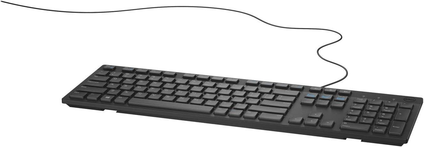 Keyboard Usb Dell Kb216 Multimedia Black Dänisches Tastaturlayout Elektronik