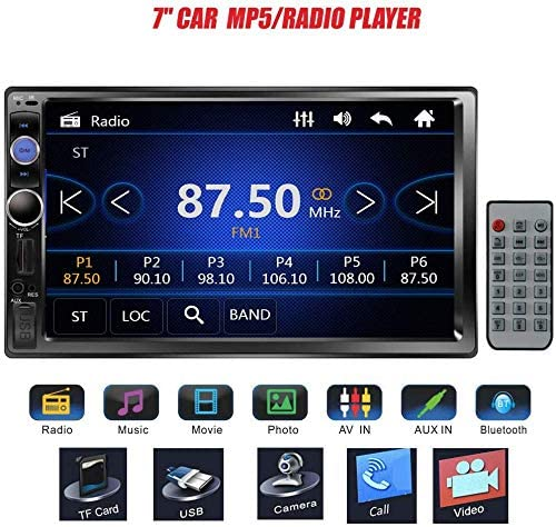 Remote Control Regetek 7 Double DIN in Dash Touchscreen Bluetooth Car Stereo Mp3 Audio FM Radio//AM Radio//TF//USB//AUX-in 1080P Video Player