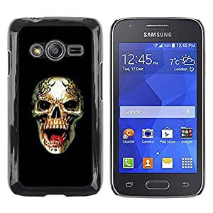 Paccase / SLIM PC / Aliminium Casa Carcasa Funda Case Cover - Rogue Metal Heavy Rock Black Skull - Samsung Galaxy Ace 4 G313 SM-G313F