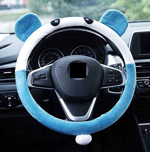 Nuobo Steering Wheel Cover for Women Girls Auto Universal Plush Cute Cartoon Women's Car Steering Covers 15inch